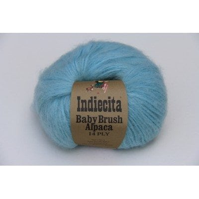 baby brush alpaca 14 ply chunky wool colour swatch grey feature image
