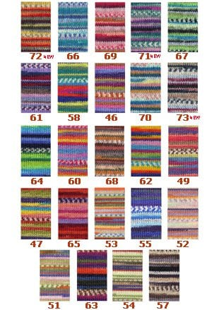 Adriafil Knitcol Colour chart