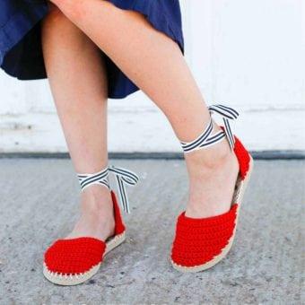 crotchet sandals using flip flops