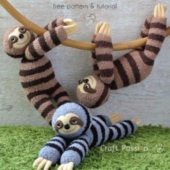 Sock Sloth tutorial