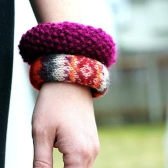 knitted sweater bangles