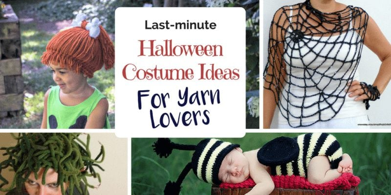 Last-minute halloween costumes for yarn lovers