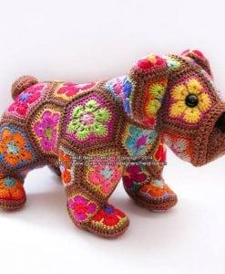 Granny Square Bulldog Crochet Pattern