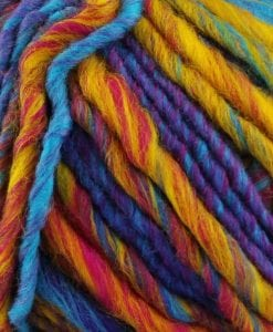 Katia Ushuaia super chunky yarn 53% Virgin Wool 47% Acrylic 604 bright multi