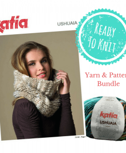 Katia Ushuaia Cowl Knitting Pattern TX181 yarn bundle ready to knit