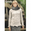 Wendy Harris Double Knit Ladys knitting pattern 6086 column jumper