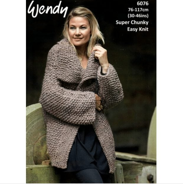 Harris Super Chunky Lady S Cosy Cardigan 6076 Adult Knitting Pattern