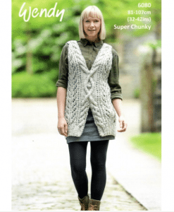 Wendy Harris Super Chunky Womens knitting pattern cut out jumper 6080