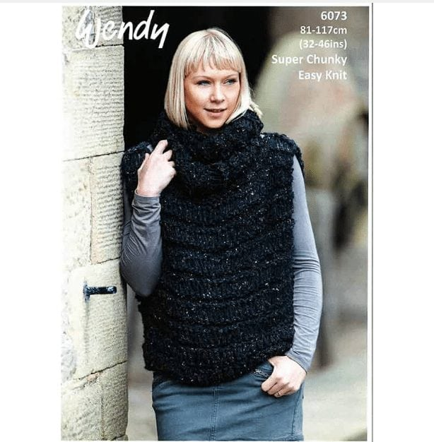 Harris Super Chunky Ladys Vest 6073 Adult Knitting Pattern