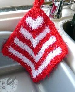 Wendy Wash Knit Aran Knitting Pattern 5999 dishcloth