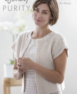 Wendy Purity Spring Cardigan 6052 | Knitting Pattern