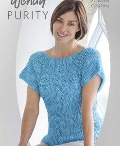 Wendy Purity Patterned Top 6056 | Knitting Pattern