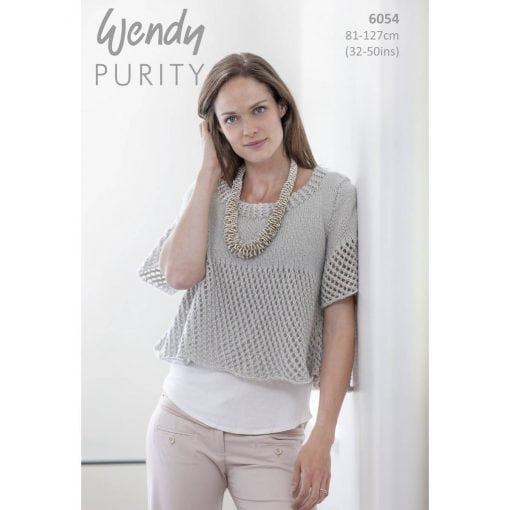 Wendy Purity Flared Top 6054 | Knitting Pattern