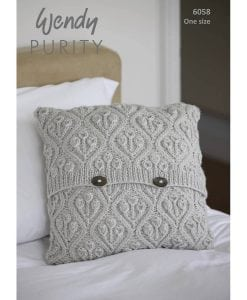 Wendy Purity Patterned Cushion 6058 | Knitting Pattern