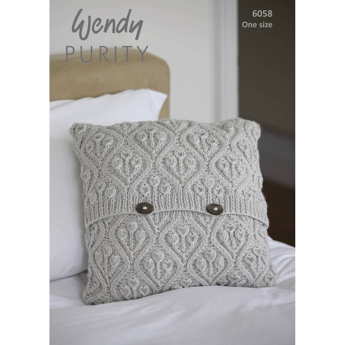 Wendy Purity Patterned Cushion Knitting Pattern - Fast Shipping in NZ