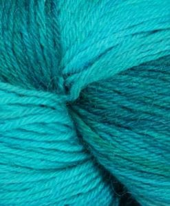 Misti Alpaca Gradient Sock 4ply 07 aqua yarn swatch