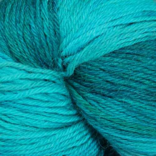 Misti Alpaca Gradient Sock 4ply 07 aqua yarn swatch