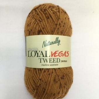 Naturally Loyal Vegas Tweed 100% wool 8ply yarn double knit cover