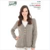 Naturally loyal vegas tweed women's knitting pattern N1390 3-button cardigan