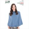 Naturally loyal vegas tweed women's knitting pattern N1391 Panelled Cape