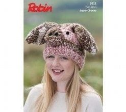 robin super chunky new zealand knitting pattern piglet hat pattern 3011
