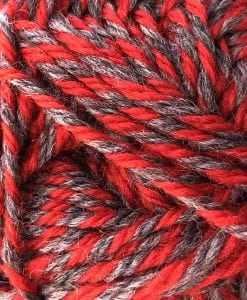 Countrywide Windsor 100% New Zealand wool yarn 8ply Marl Marled 8 ply double knit dk Red - Grey shade 2470