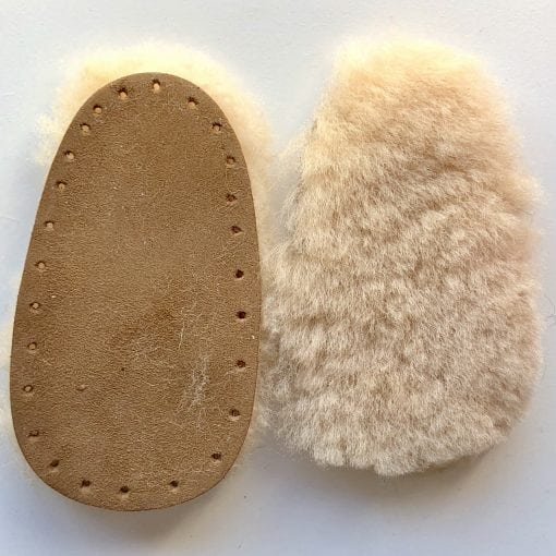 Sheepskin Soles for Baby Booties knitting pattern
