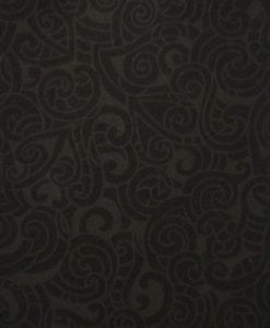 #85200 MOKO MOKO COL. 105 CHARCOAL:BLACK Nutex kiwiana quilting fabric
