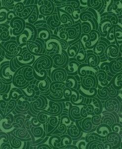 #85200 MOKO MOKO COL. 110 EMERALD Nutex kiwiana quilting fabric