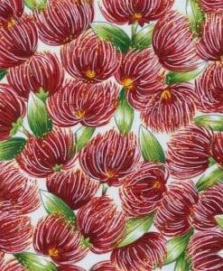 #88050 POHUTUKAWA POHUTUKAWA COL. 101 CREAM Nutex kiwiana quilting fabric
