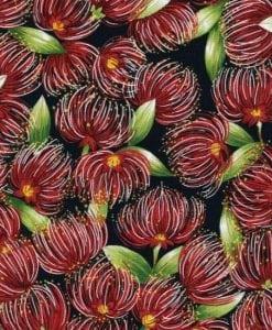 #88050 POHUTUKAWA POHUTUKAWA COL. 102 NAVY Nutex kiwiana quilting fabric