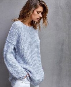 TX633 Lucy knitting sweater jumper womens pattern for Hayes yarn
