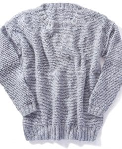 knitting sweater jumper womens pattern for Hayes yarn TX633 Lucy example