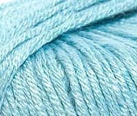 DMC Angel Bamboo yarn for baby knitting 8ply dk yarn new zealand pastel teal shade 120 swatch