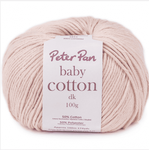 Peter Pan Baby Cotton DK 50% Cotton yarn 50% Polyester new zealand
